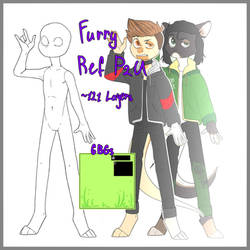 furry/anthro ref paid lines | P2U by FoxsaDiaTheDemom