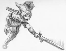 Skyward Sword- Link Slash by Bolbec