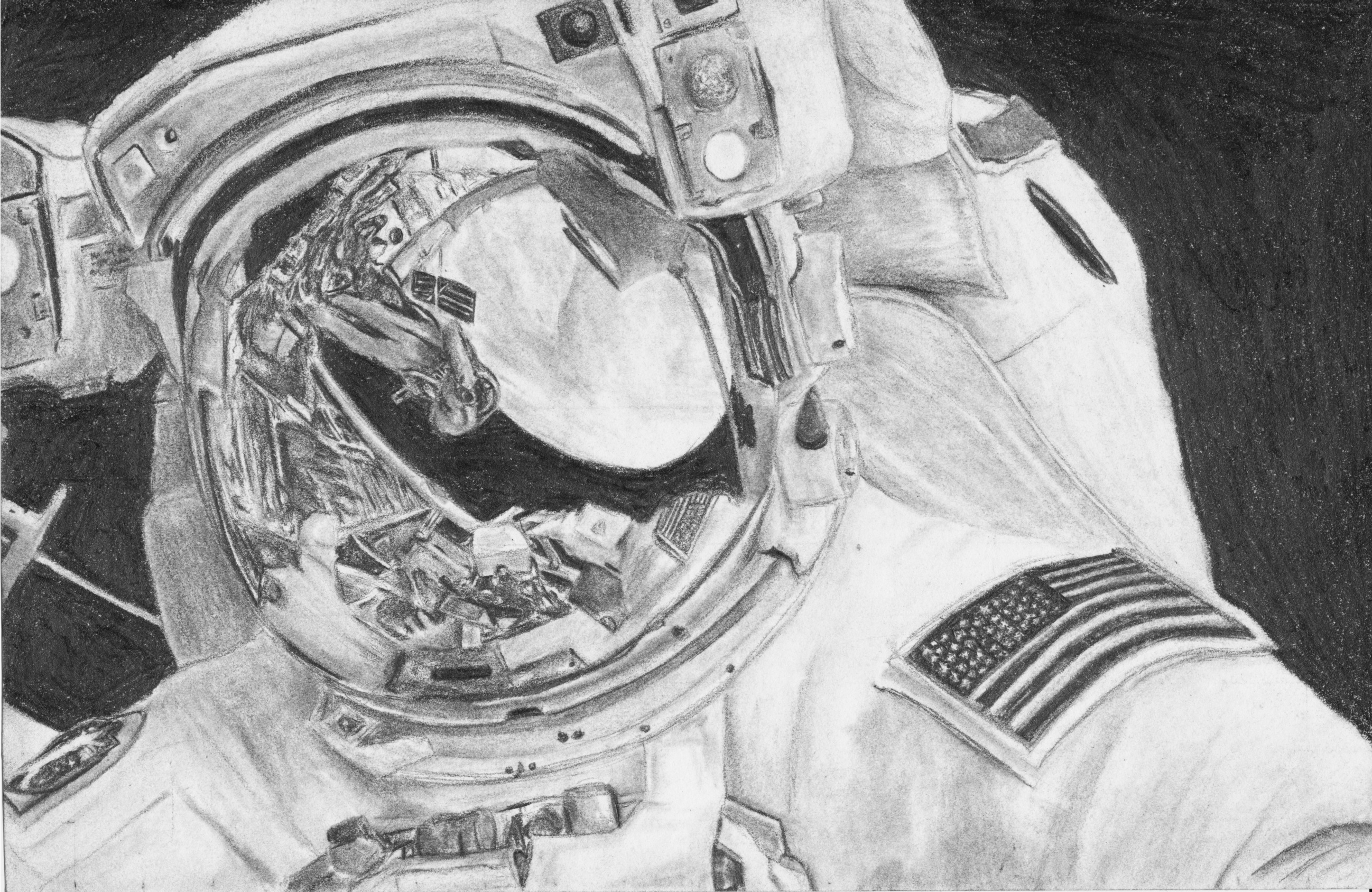 detailed drawings of astronauts - photo #3