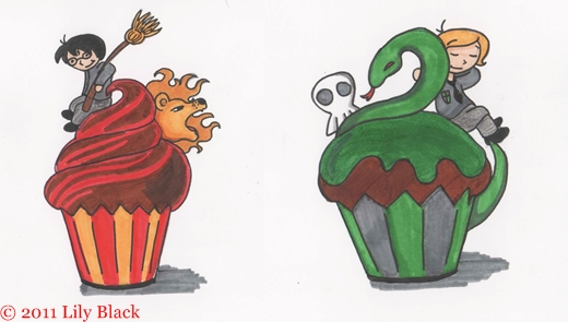 Cupcakes by LilyScribbles