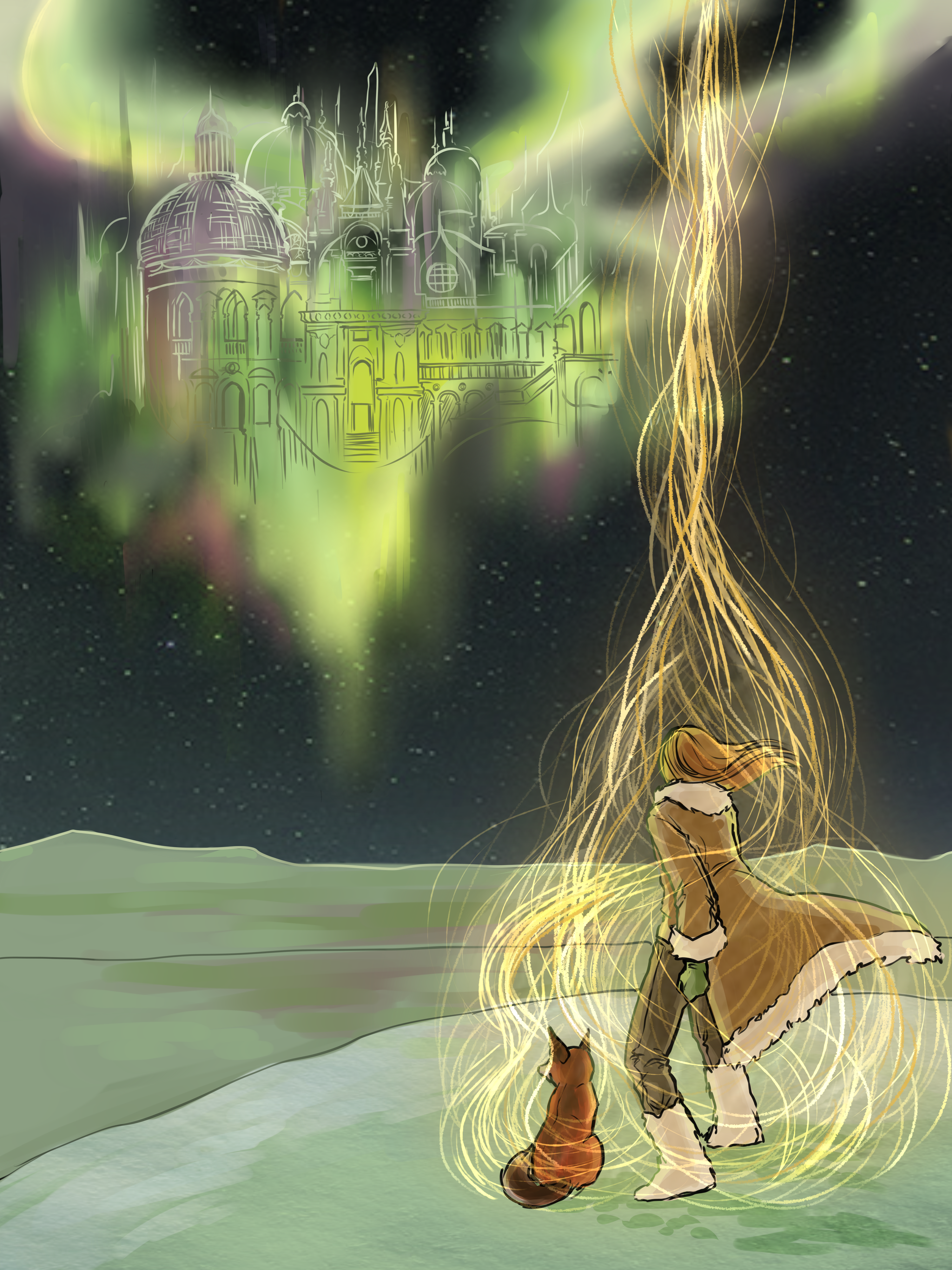 Aurora Borealis 3rd draft by LilyScribbles