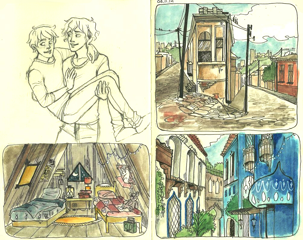 Environment sketchbook by LilyScribbles