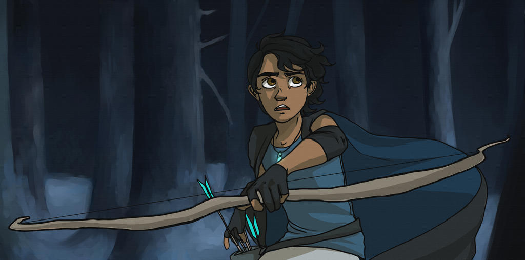 Diego in the forest by LilyScribbles