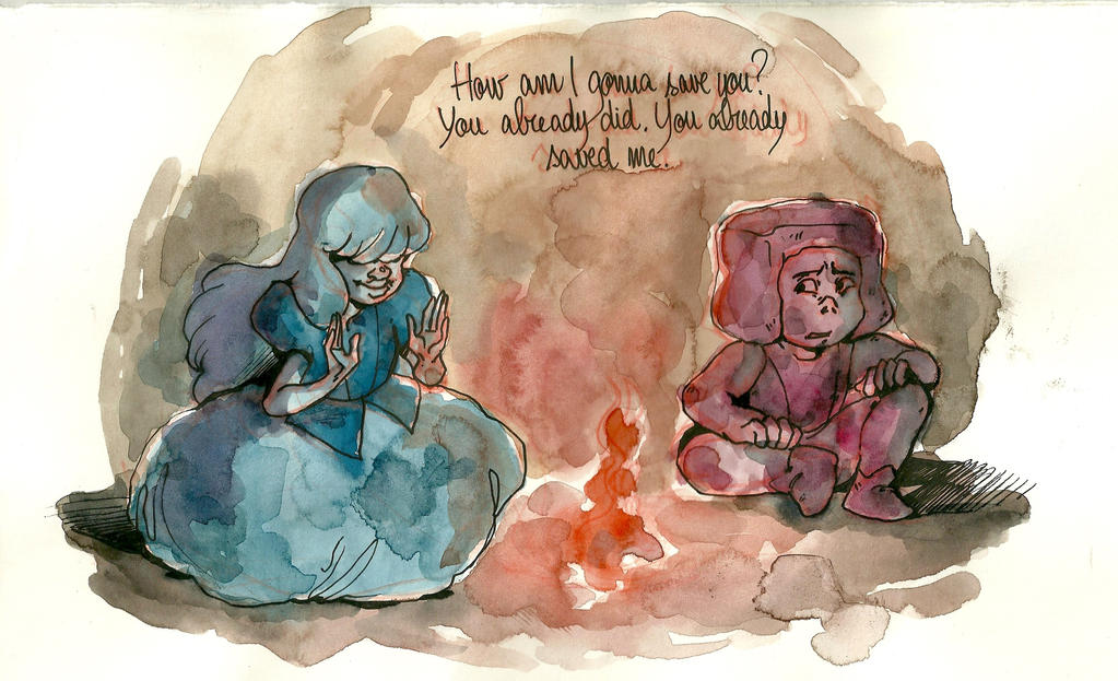 Sapphire and Ruby by LilyScribbles