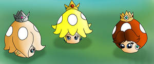 Peach Daisy Rosalina Power ups TF