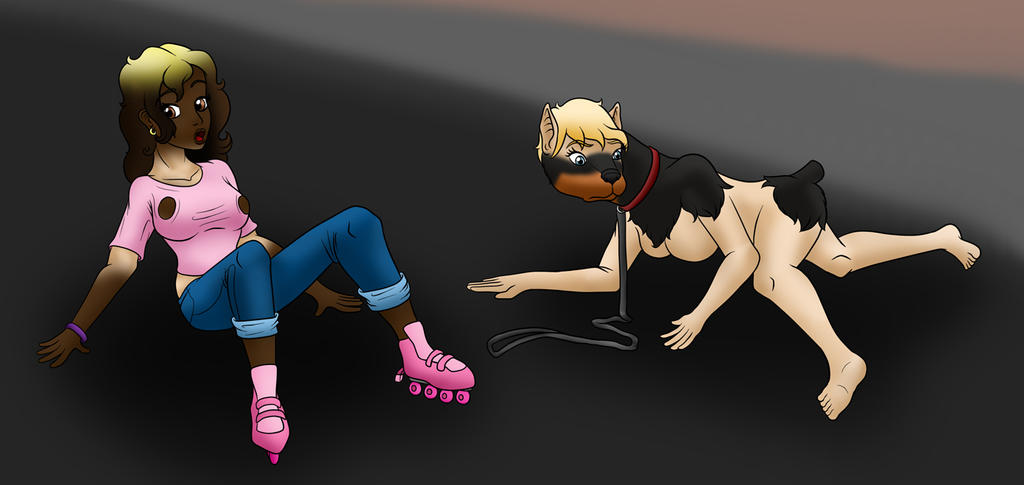 Commission: Girl And Dog Bimbo TF Part 3 By