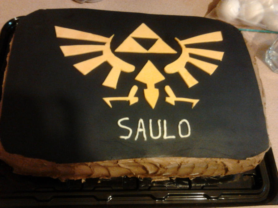 Zelda Triforce Cake By Alice 0 Liddell