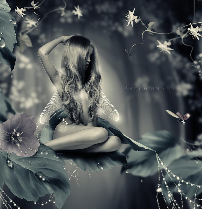 Dewdrop fairy by KellieArt