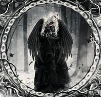 Angel in the snow by KellieArt