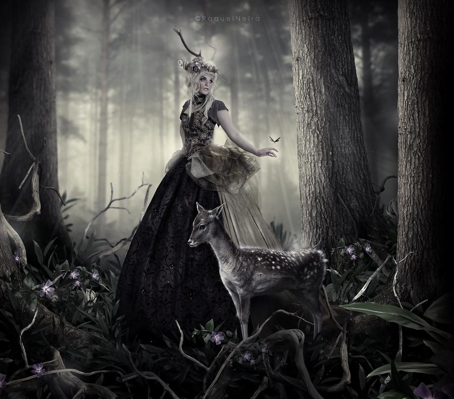 Queen of deer by scared-princess
