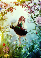 Flower fairy by KellieArt