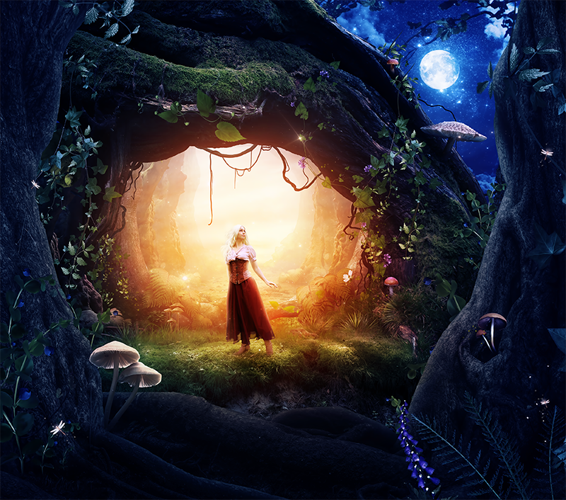 Gate to the ancient forest by KellieArt