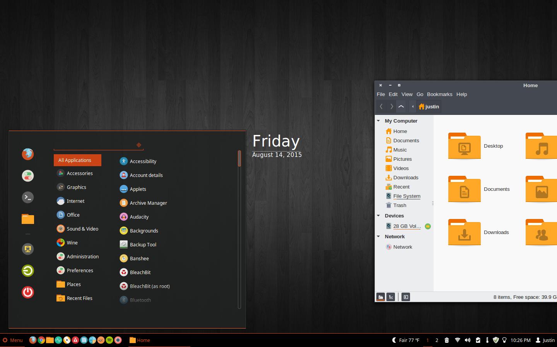 Linux Mint 17.2 Cinnamon Desktop 8/14/15 by ridethestars