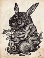 Monster No.22 : Bizarre evolution of Pikachu by atati23