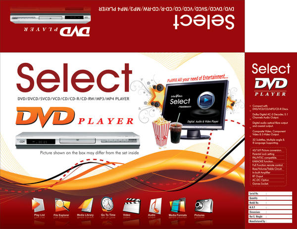 DVD Player Select Series by animagemotion