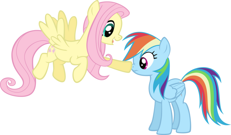 Fluttershy and rainbow dash by vectorvector on deviantart