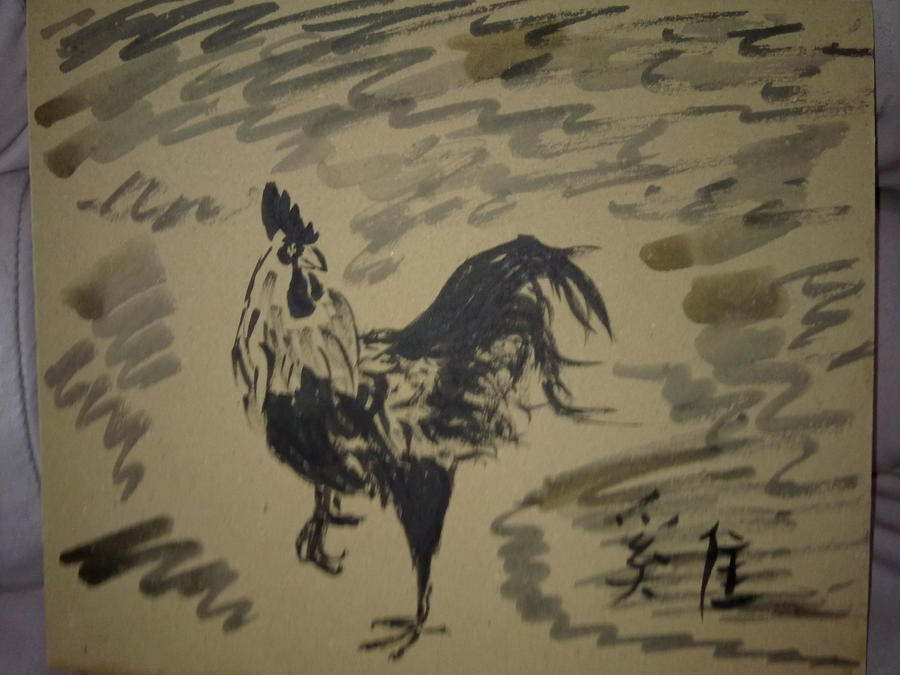 chinese painting remake : Rooster by ravencross14
