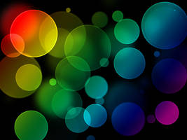 rainbow bokeh by elrico665