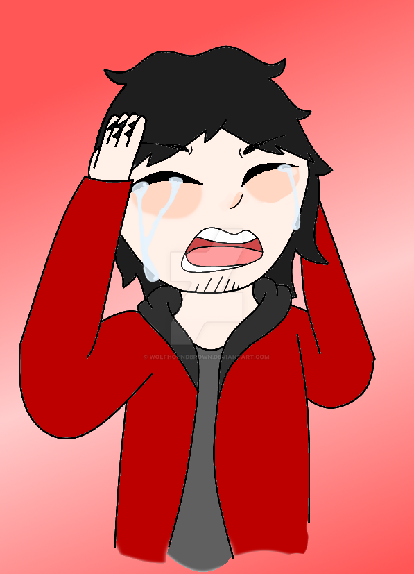 Aphmau's death (Aaron's reaction) by WolfhoundBrown