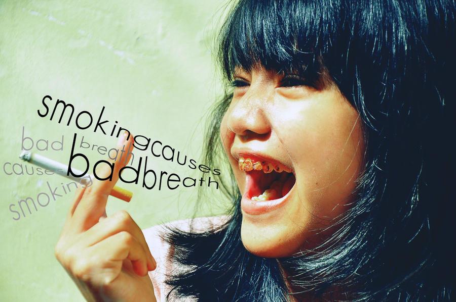 Smoking causes Bad Breath by PembiasPelangi