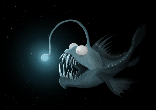 spooky fish by wolffey