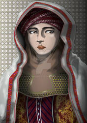 Portrait of a Nomad Woman by 2DrawLance