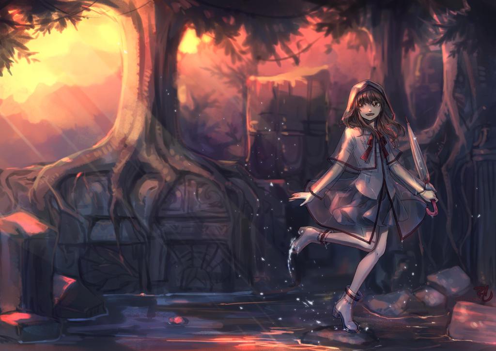 raincoat girl by eugene0321