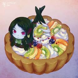 [Commission] Iora in kiwi tart by eugene0321