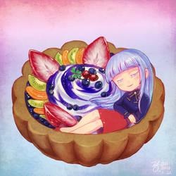 [C] Wollyang in bluberry tart