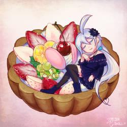 [C] Jei in strawberry tart