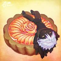 Pan in the apple tart