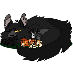 Graywing and his step babies. by Coconut-Care