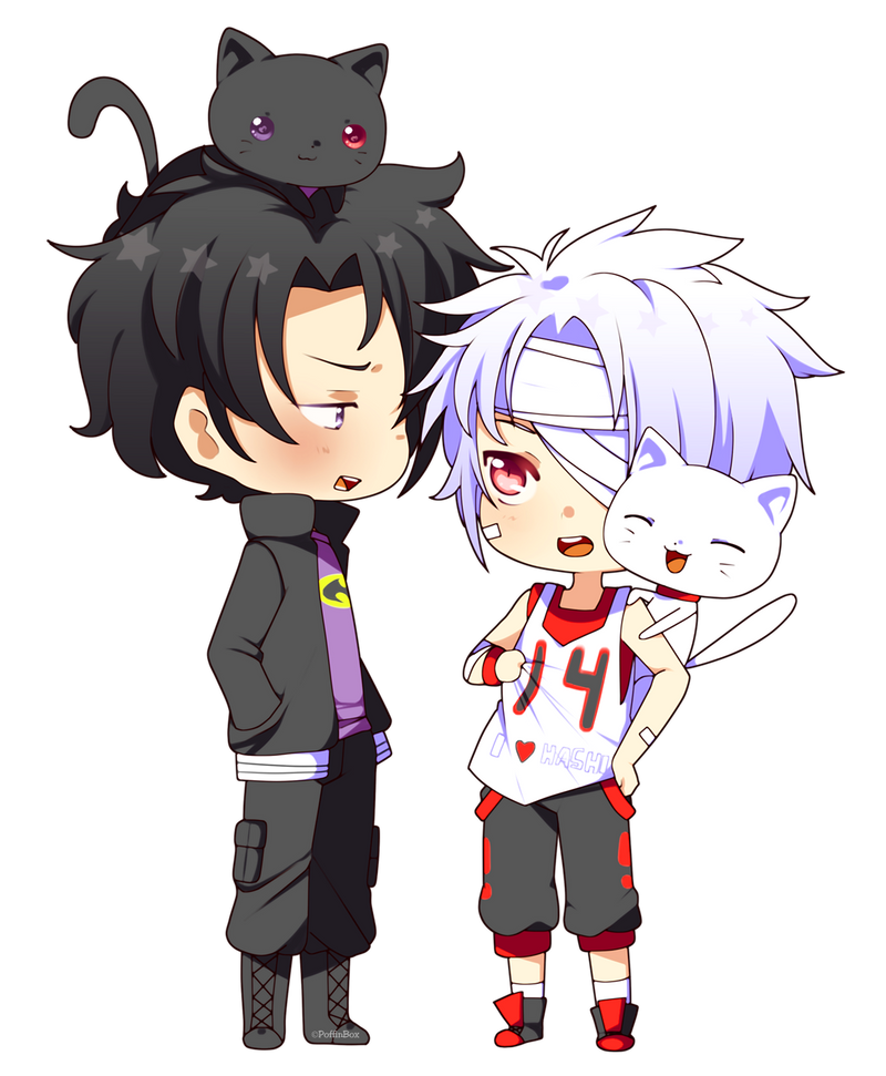Renders Kawai Chibi 02 Cat_pair_by_poffinbox-d6arh10