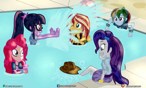 (Commission) Pool Party by Dieart77