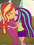 (Commission) Sunset Shimmer X Aria