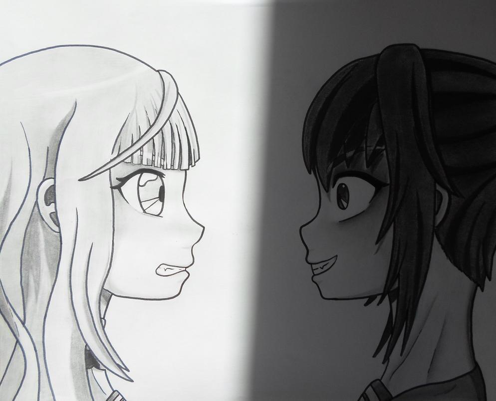 Yandere Simulator : Megami Saiko VS Ayano Aishi by Gwenou44-IceWolf