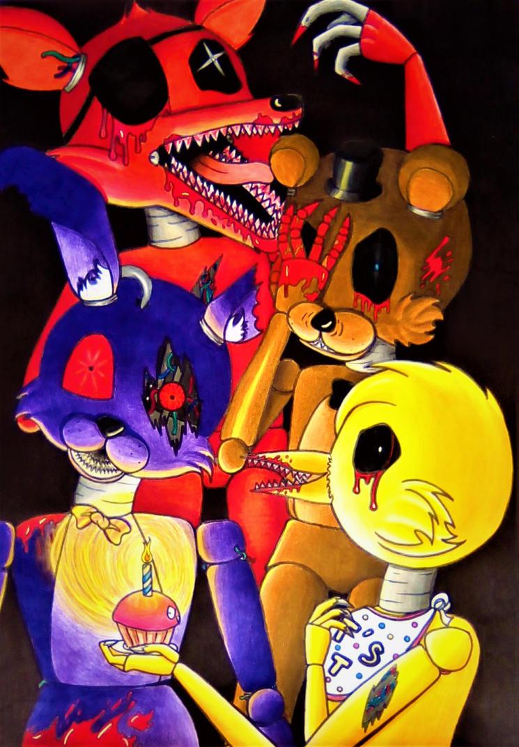 Five Night At Freddy's by Gwenou44-IceWolf