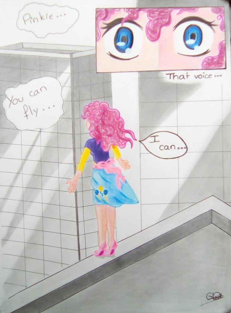 Pinkie Pie, you can fly... by Gwenou44-IceWolf