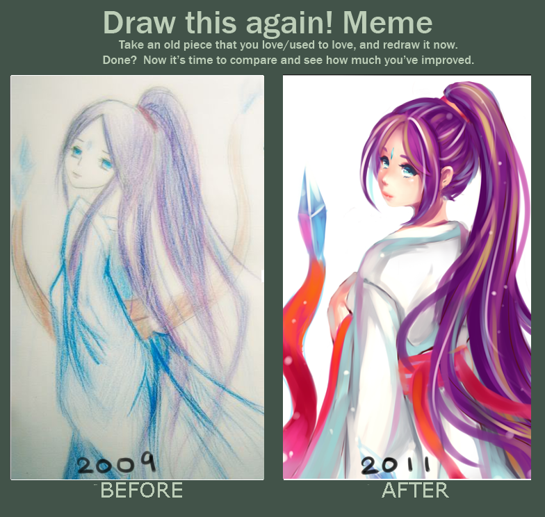Draw this again meme by polkadotedflower on deviantart for Draw this again meme template