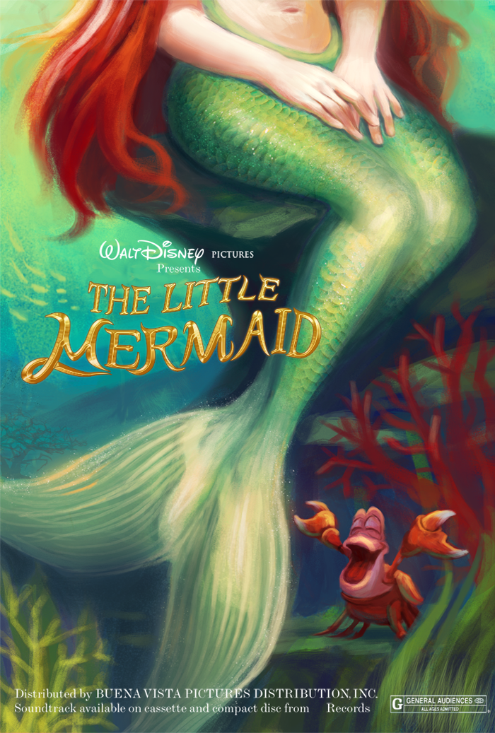 The Little Mermaid Poster by PolkaDotedFlower