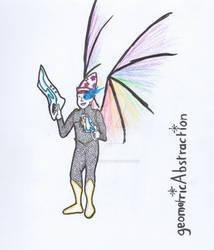 geometricAbstraction - Blue Snakespectrum Magician