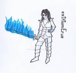 exitiumErue - Blue RAZR White Tron