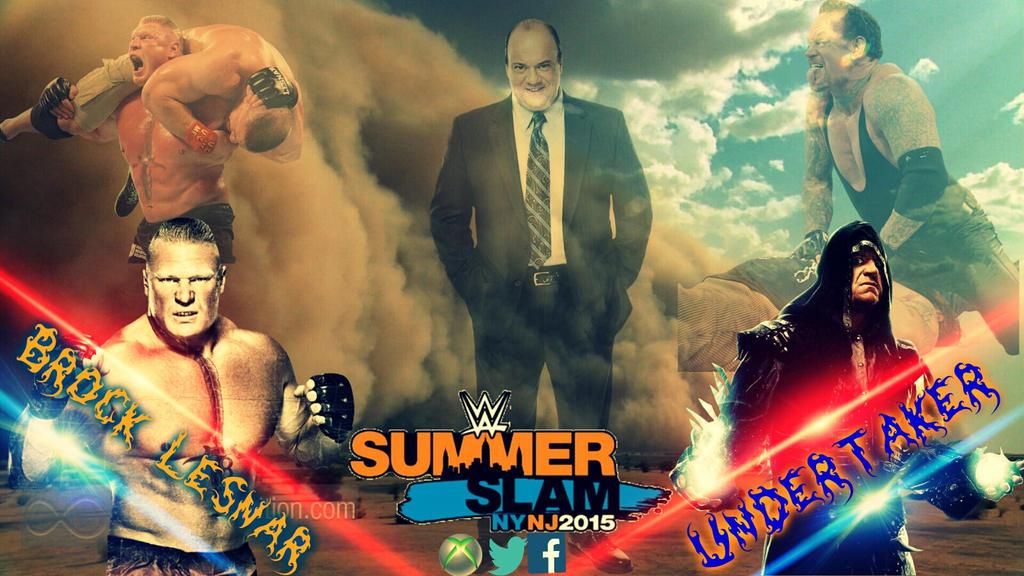Brock Lesnar VS Undertaker At Summerslam By Jaideep36
