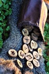 Handmade Elder Futhark Rune Set- Maple by Fellgleaming