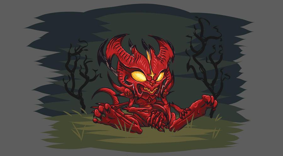 Diablo 3 mini Diablo by SirBedevere