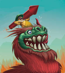 Zuzu the dragon and the Rocket Master