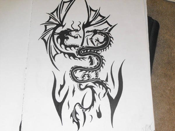 tatoo Dragons by lochness2012