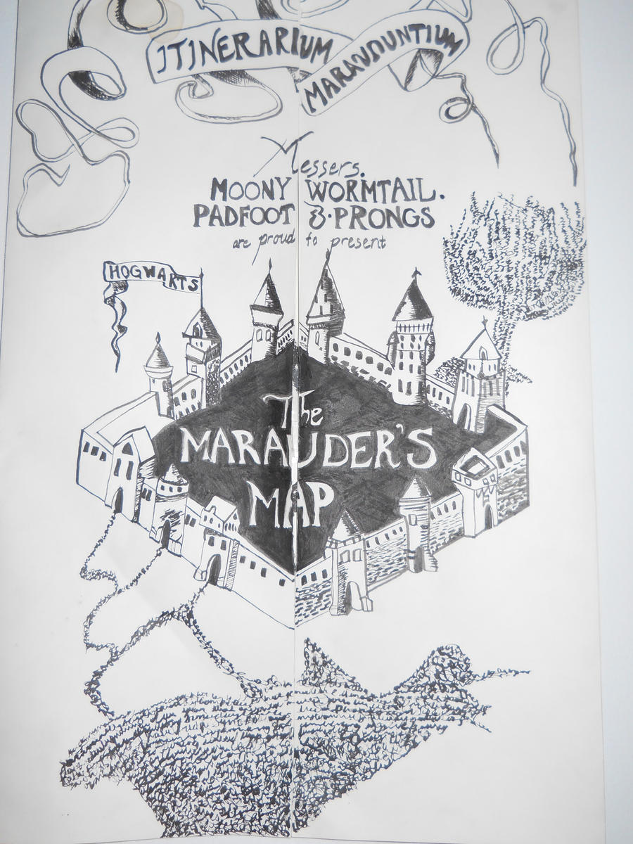 Simple Wallpaper Harry Potter Map - harry_potter__s_marauders_map_by_chaiduck18-d4helk8  Best Photo Reference_366320.jpg