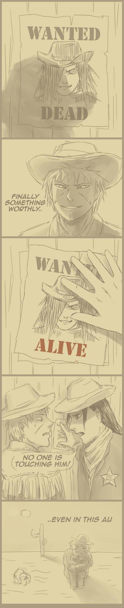 Cowboy AU by k1deki