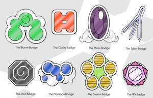 5th Generation Gym Badges by Hallm3